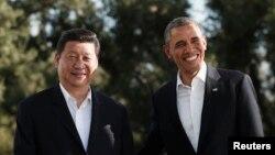 روز نخست سفر رئیس جمهوری چین به آمریکا دیداری به دور از تشریفات با همتای آمریکایی خود بود