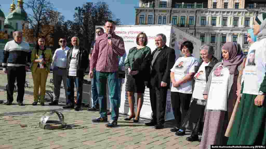 Акцію також відвідав ексв'язень Кремля, український режисер Олег Сенцов...