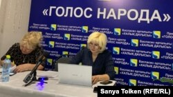Белсенді Санавар Закирова ашқан баспасөз орталығы. Нұр-Сұлтан, 20 қаңтар 2020 жыл.