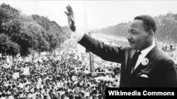 """Мартин Лютер Кинг выступает со своей знаменитой речью """"У меня есть мечта"""" (I Have a Dream), 1963 год"""