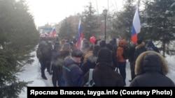 Шествие в Новосибирске против выборов президента, архивное фото