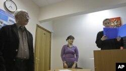 Правозащитник Олег Орлов на оглашении приговора по предыдущему иску Андрея Красненкова