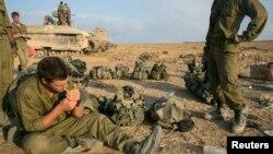 Израильские солдаты в Газе, 28 июля 2014