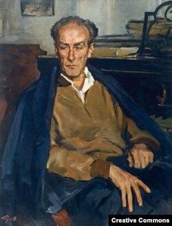 Un portret al lui Evgheni Mravinsky de Lev Russov (1957)