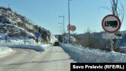 Черногориядағы қар басқан жолдардың бірі. 7 қаңтар 2017 жыл. (Көрнекі сурет.)