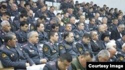 Оперативно-служебное заседание в МВД Таджикистана, 28 марта 2015 года.