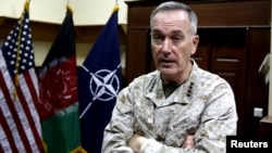 The U.S. commander of the international forces in Afghanistan General Joseph Dunford