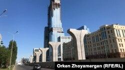 Замороженное строительство линии легкорельскового транспорта в казахстанской столице.