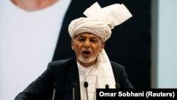 Presidenti afgan, Ashraf Ghani në ceremoninë hapëse të takimit të 29 prillit.