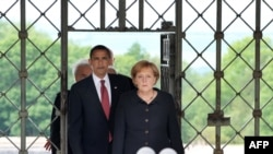 Cancelarul Angela Merkel şi preşedintele Barack Obama