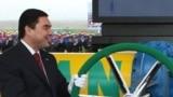 Türkmenistanyň prezidenti G.Berdymuhamedow, Türkmenistan-Eýran gaz geçirijisiniň täze ugrunyň açylyş dabarasynda, Döwletabat gaz ýatagy, 6-njy ýanwar, 2010.