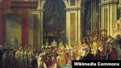 1804 год. Короновавшись сам, Наполеон Бонапарт в присутствии папы римского Пия VII коронует свою жену Жозефину