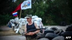 Блокпост луганских сепаратистов