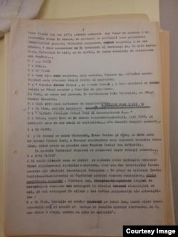 """Pagină din """"Povestea Vorbei"""", programul realizat de Virgil Ierunca (Foto: Hoover Archives/Prof. Sergiu Musteață)"""