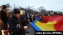 Protest împotriva rezulutatului alegerilor prezidențiale din Republica Moldova, Chișinău, 14 noiembrie 2016