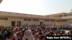 في ساحة احدى مدارس بغداد