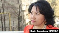 Айна Шорманбаева, президент НПО «Международная правовая инициатива». Алматы, 22 апреля 2014 года.