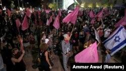 Protest protiv izraelskog premijera u Tel Avivu, 10. oktobar