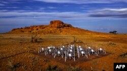 Массив антенн Murchison Widefield Array в Австралии