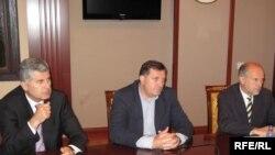 Dragan Čović, Milorad Dodik i Valentin Incko na sastanku u Banja Luci, Foto: Erduan Katana