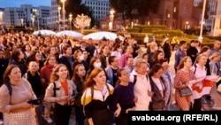 Протестный марш в Минске. 1 сентября 2020 года.