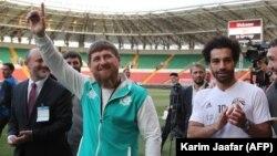 """Рамзан Кадыров и Мохамед Салах, Грозный, стадион """"Ахмат-Арена"""", 10 июня"""