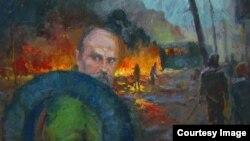 Тарас Шевченко, картина Юрія Шаповала «Григорович проти …» (ілюстрація з Facebook)