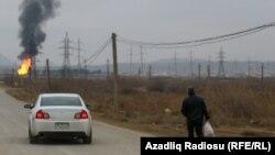 Взрыв на трубопроводе. Баку 27 декабря
