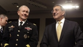 U.S. Defense Secretary Leon Panetta (right) and the chairman of the U.S. Joint Chiefs of Staff, General Martin Dempsey (left)