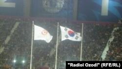 Инчхонда өтіп жатқан Азия ойындарының стадионы. Оңтүстік Корея, 2014 жылдың қыркүйегі. (Көрнекі сурет)