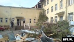 Georgia -- Windstorm damaged school in Gori, 23Feb 2010