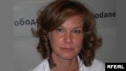 Яна Яковлева в студии Радио Свобода