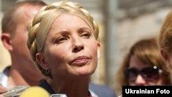 Юлія Тимошенко біля Печерського районного суду, 26 липня 2011 року