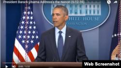 Barack Obama Orlando qətliamı ilə bağlı xalqa müraciət edib