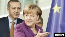 Թուրքիայի նախագահ Ռեջեփ Էրդողանն ու Գերմանիայի կանցլեր Անգելա Մերկելը, արխիվ