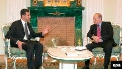 دیدار ولادیمیر پوتین و بشار اسد در سال ۲۰۰۶