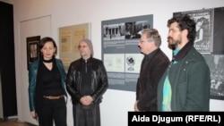 Elma Hasimbegović iz Historijskog muzeja BiH sa Milanom Frasom i Ivanom Novakom iz Laibacha