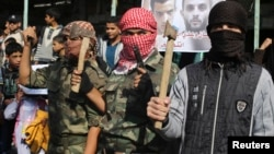 """While IS does not have an official branch in Gaza, one analyst says, """"it's popularity has certainly affected radicalized individuals."""""""