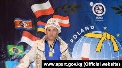 Алыш бел боо күрөшү боюнча дүйнө чемпиону Кадыр Келсинбеков. 11-октябрь, 2015-ж. Польша.