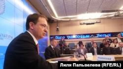 Глава Минкульта РФ Владимир Мединский на пресс-конференции