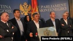 Lideri opozicionog Demokrtaskog fronta, arhivski snimak