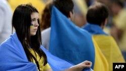 Болельщики сборной Украины на матче Украина - Англия. Донецк, 19 июня 2012 г