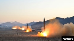 A previous North Korean missile launch