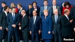 Лидеры стран Евросоюза на саммите ЕС в Брюсселе, 24 октября