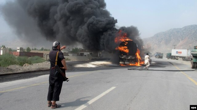 Two drivers were killed and another injured in a similar attack in Khyber on August 21.