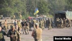 Старогнатовканын жанындагы украин аскерлери, 10-август, 2015-жыл