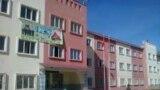 """Манас Ата"" лицейи да ""Сапат"" мекемесине таандык. Талас, Кыргызстан."