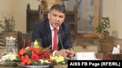 مسعود اندرابی، سرپرست وزارت داخله در نشستی در انستیتوت مطالعات استراتژیک افغانستان