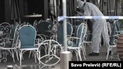 Jedno od mesta na kome se dogodio napad bombom, Podgorica