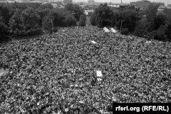 Демонстрація в Єревані, 1988 рік